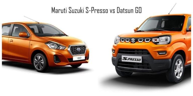 Maruti Suzuki S-Presso vs Datsun GO – Spec Comparison