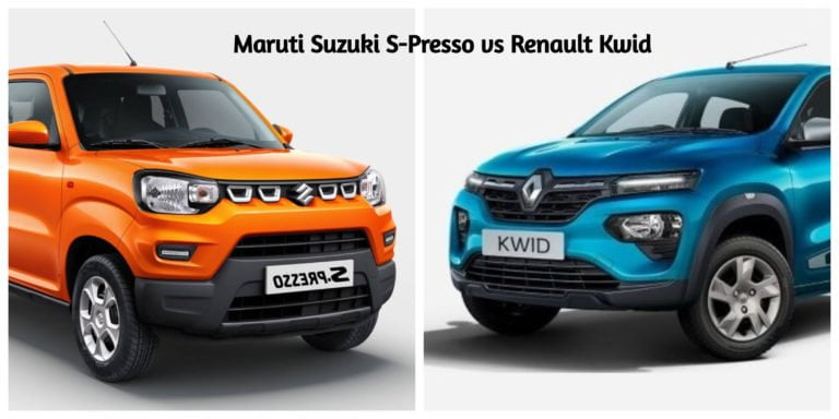 Maruti Suzuki S-Presso vs Renault Kwid – Specification Comparison!