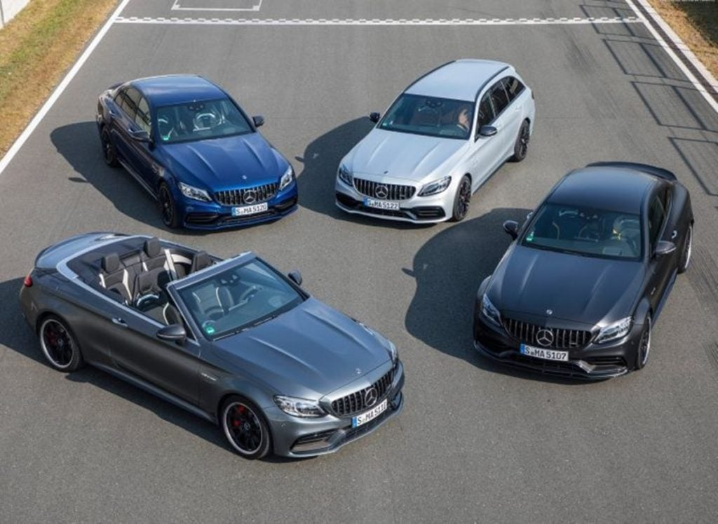 All the different body styles available with the current Mercedes C63 and C43