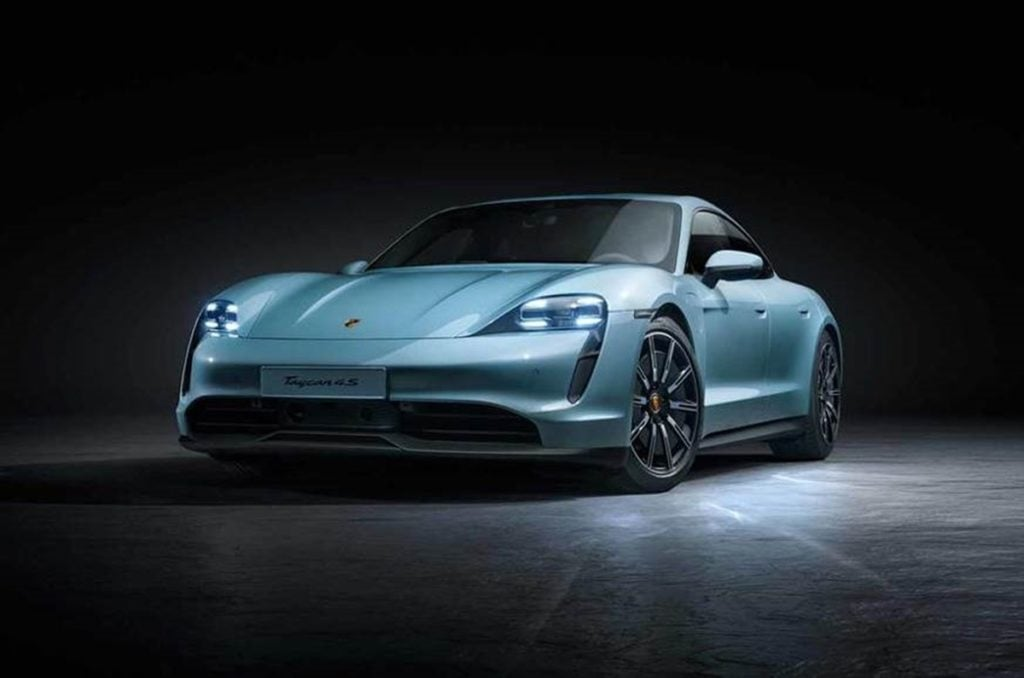 Porsche has unveiled a new entry level Taycan 4S
