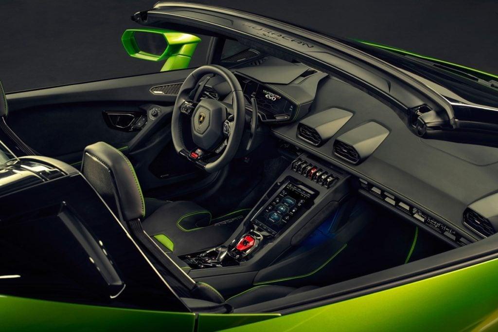 Lamborghini Huracan Evo Spyder interiors