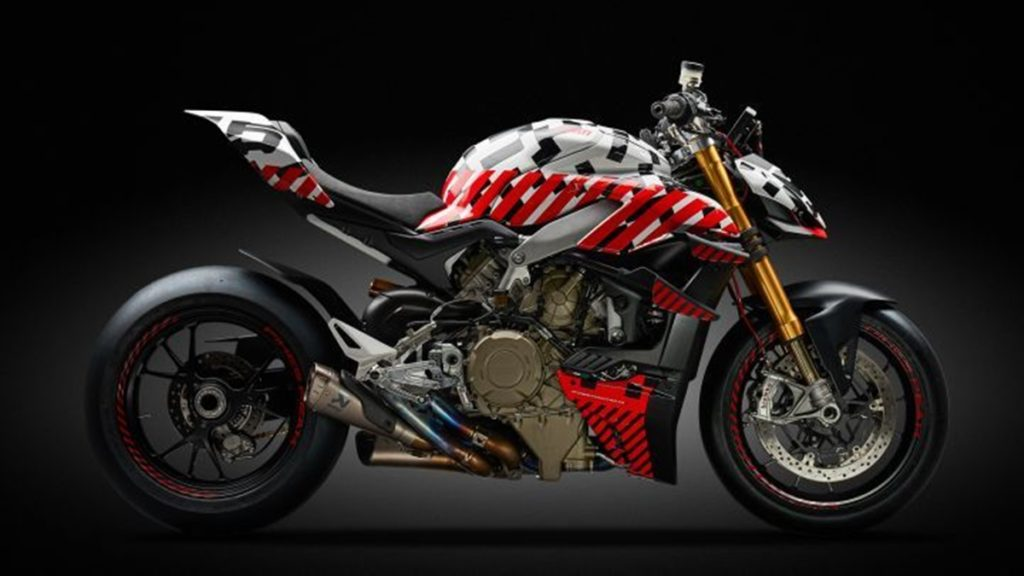 This is the Ducati Streetfighter V4 race prototype