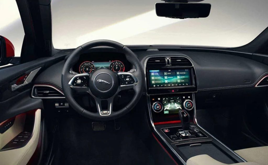 The biggest update are on the interiors of the 2020 Jaguar XE facelift with the new Touch Pro Duo Infotainment System.