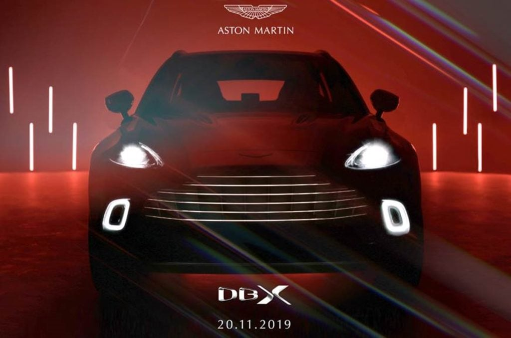 The Aston Martin DBX will see its global debut on November 20 in Beijing, China