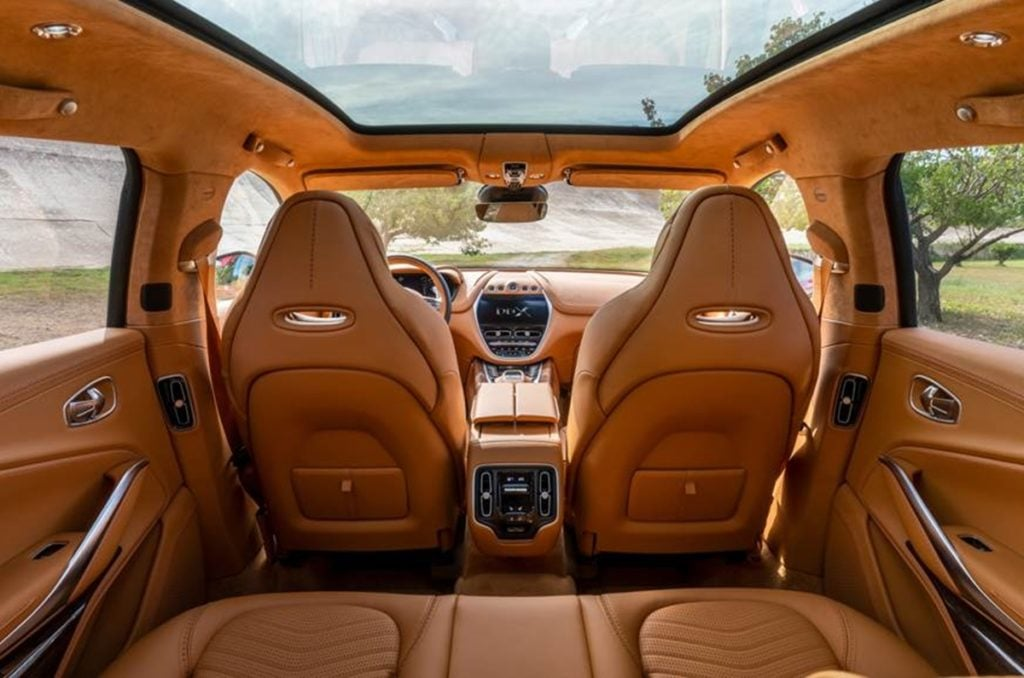 Aston Martin has revealed the first image of the interiors of the DBX SUV