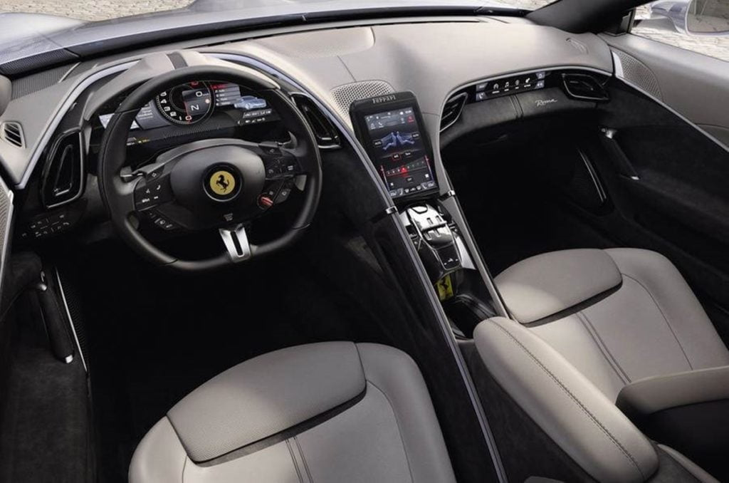 The Ferrari Roma features brand new interiors as well.