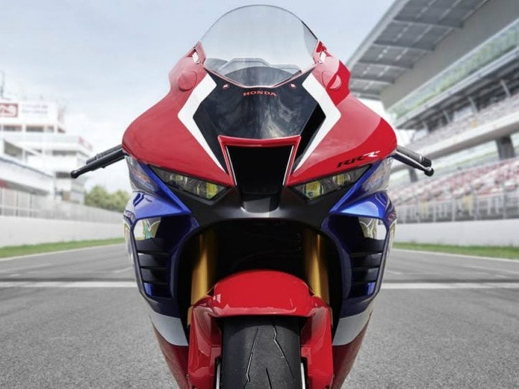 The new motorcycle is all about aerodynamics and seems straight out of Honda's MotoGP manual.