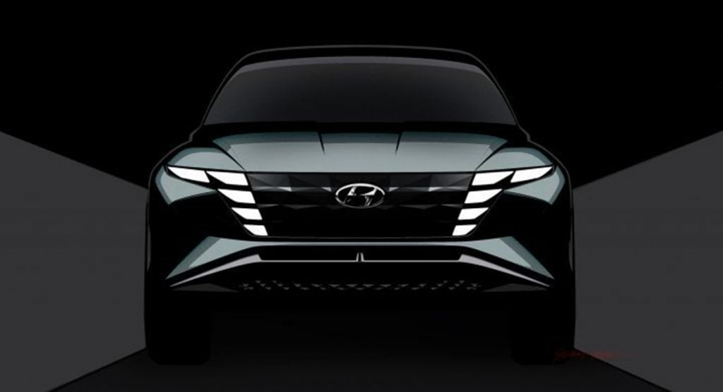 Hyundai showcased the Vision T hybrid concept SUV at the LA Motor Show