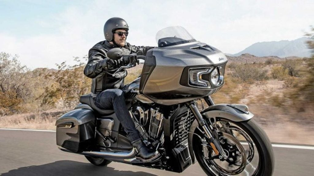 The Indian Challenger is loaded with electronic goodies and sophisticated cycle parts.