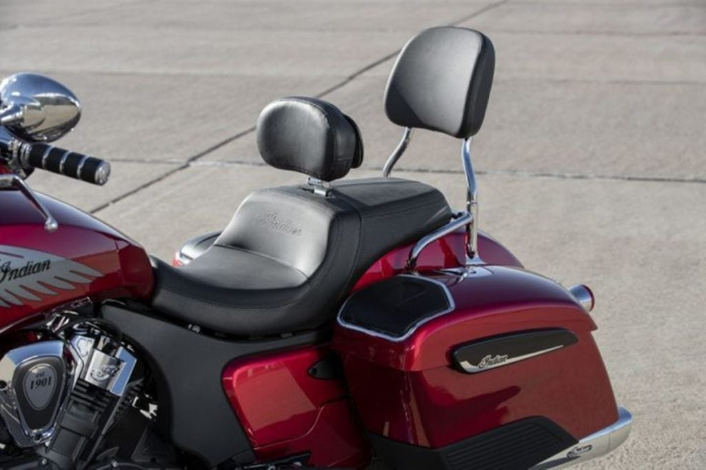 Indian is also offering an extensive options lists which includes backrests for both rider and passenger.