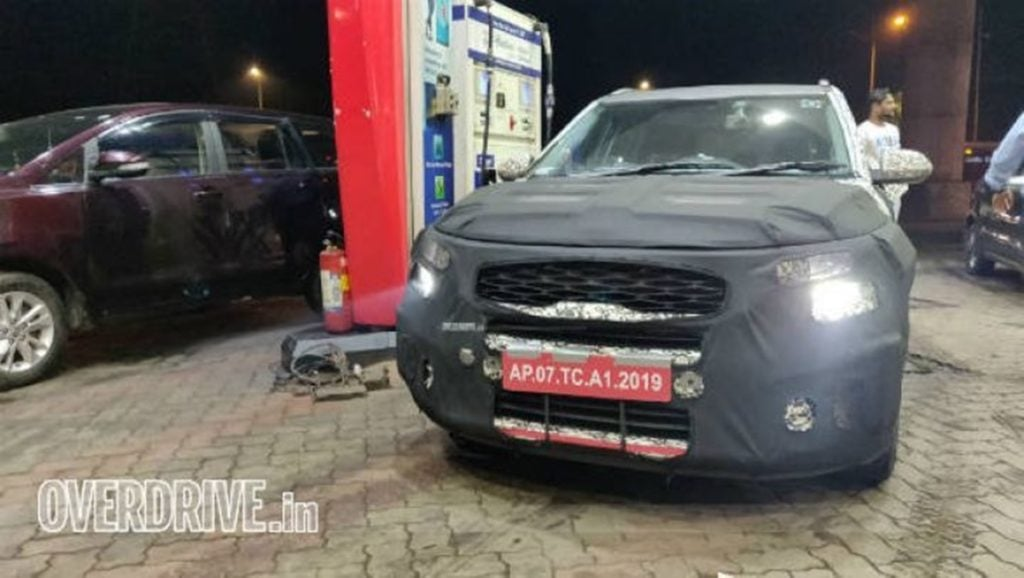 Kia sub-compact SUV spotted testing in India
