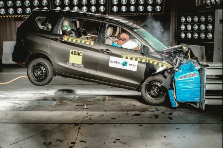 Maruti Ertiga Gets Three Stars In NCAP Crash Test