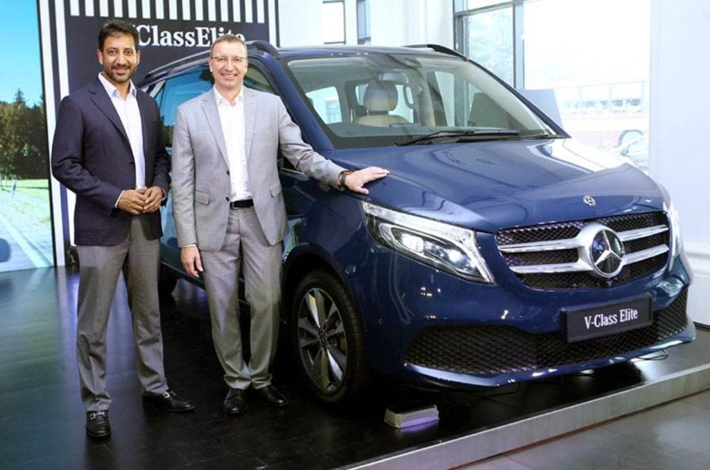 Mercedes-Benz launched the V-Class Elite in India for a price of Rs. 1.1 crore, ex-showroom.