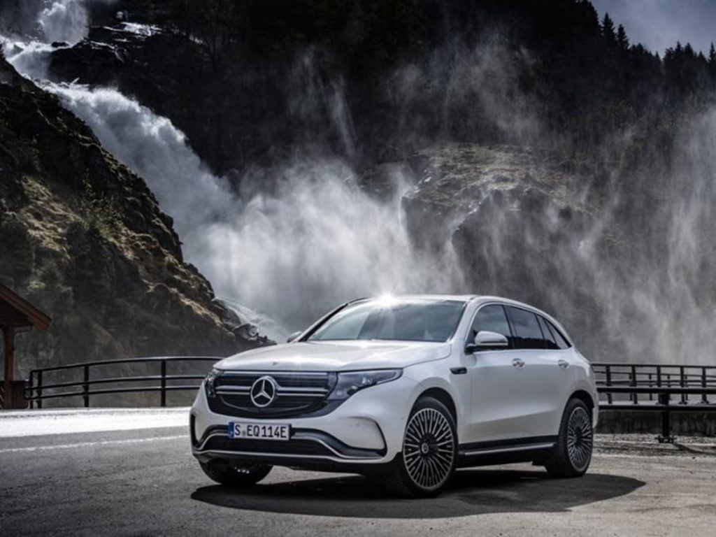 Mercedes unveiled the EQC electric SUV at the 2019 LA Motor Show