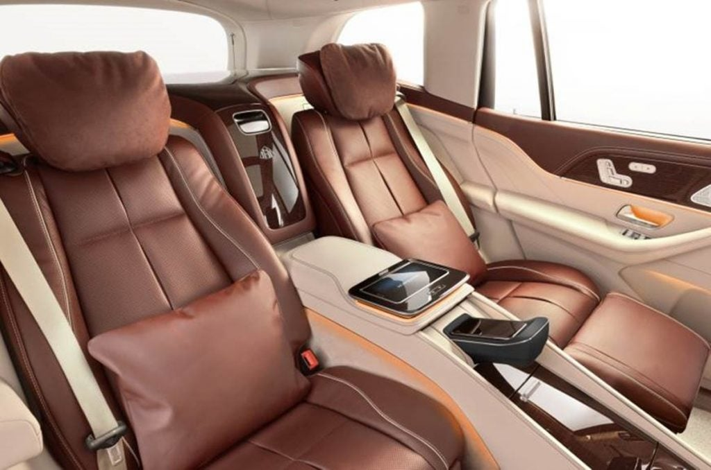 The real experience of a Maybach is however in the back seats and such is the passenger area of Maybach GLS.