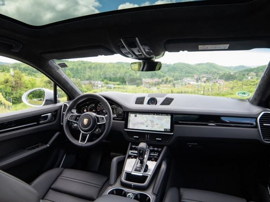 Porsche Cayenne Coupe interiors