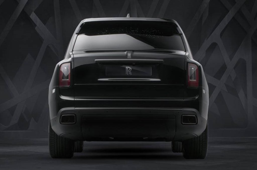 The Rolls Royce Black Badge edition is powered by a 6.75 Liter V12 with 600hp.