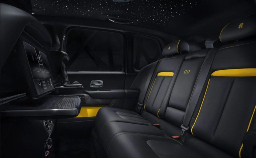The Black Badge also adds a headliner woven with fibre optic lights to resemble the night sky