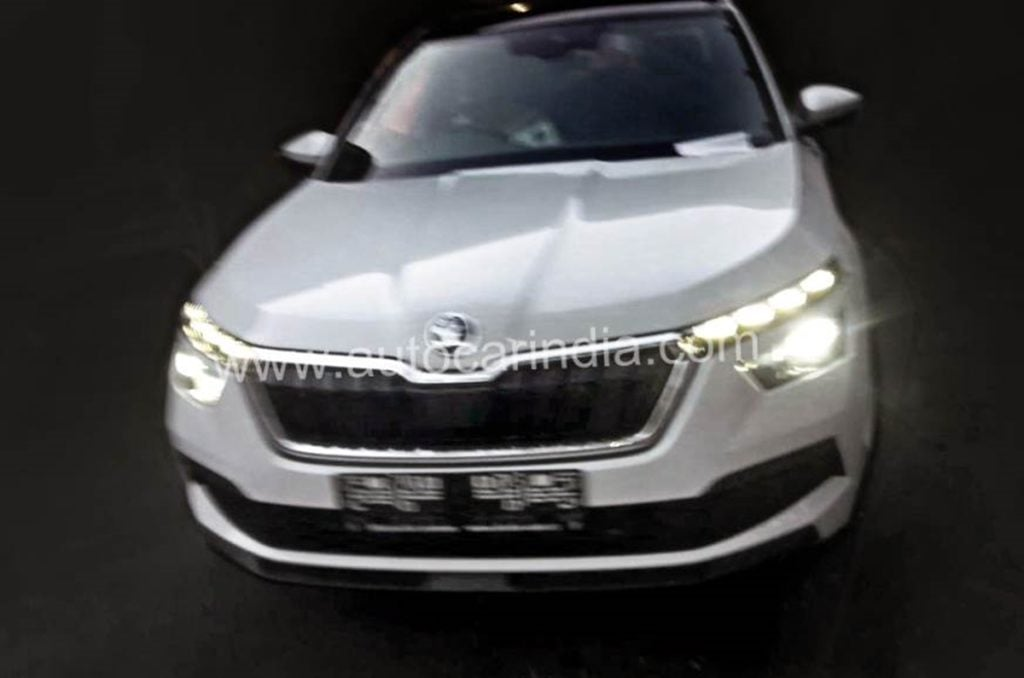Skoda Kamiq seen in India for the first time