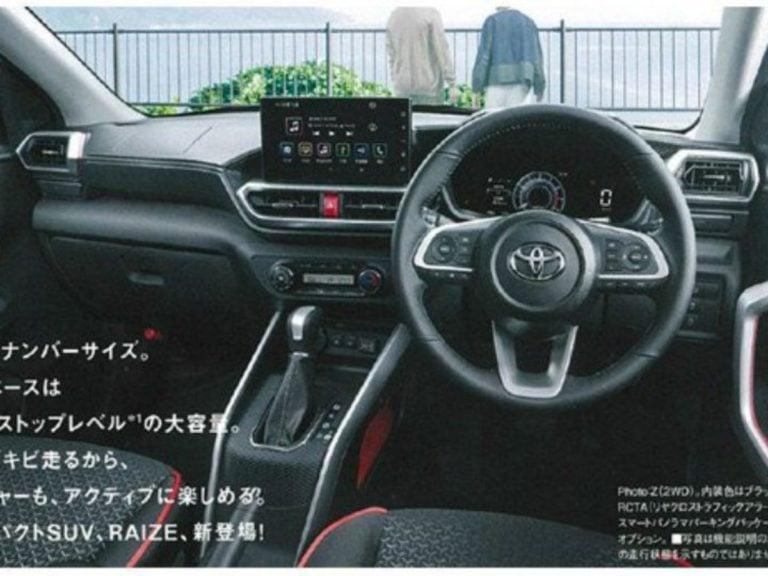 Maruti Suzuki Vitara Brezza Rival Toyota Raize Interiors Leaked