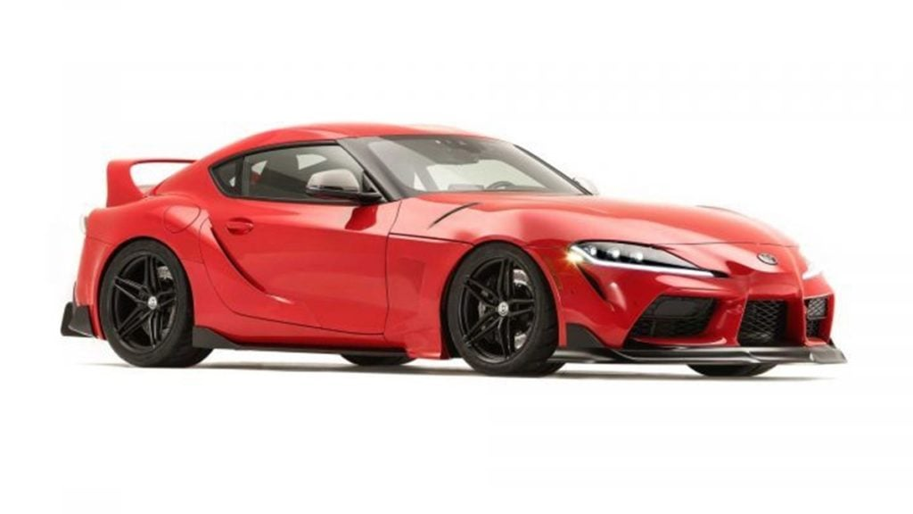 Toyota Showcased a bunch of Supras at SEMA 2019. This is the Supra Heritage Edition.
