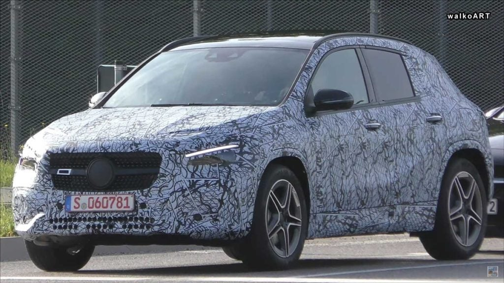 The next-gen Mercedes GLA will feature a more upright design than the current model