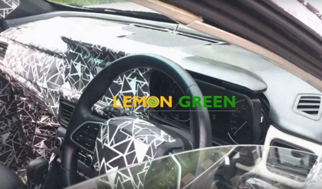 2020 Mahindra XUV500 interiors spied again.