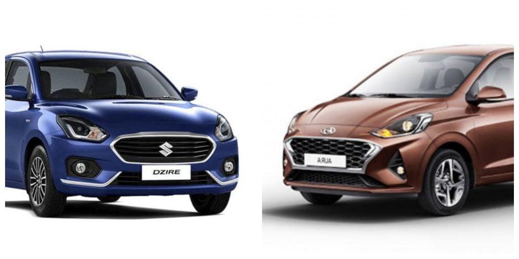 Hyundai Aura vs Maruti Suzuki Dzire