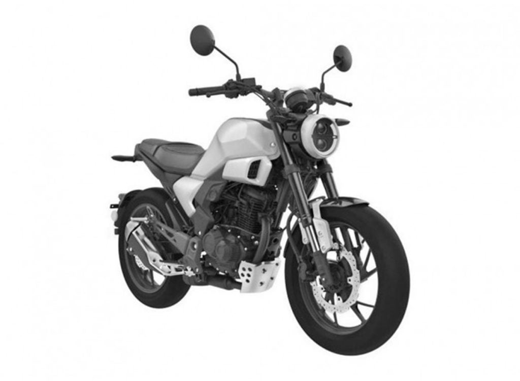 New patent images from Honda reveal a neo-sports cafe motorcyle based on the CB Hornet 160R