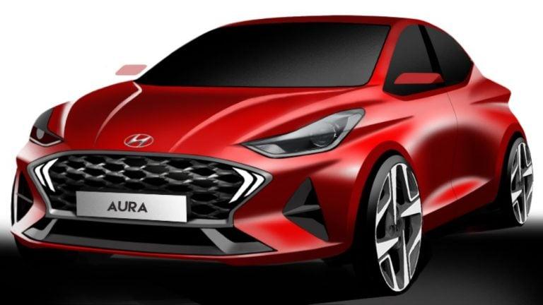 Hyundai Aura Design Renders Revealed; Unveiling On 19th December