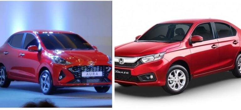 Hyundai Aura Vs Honda Amaze – Specification Comparison