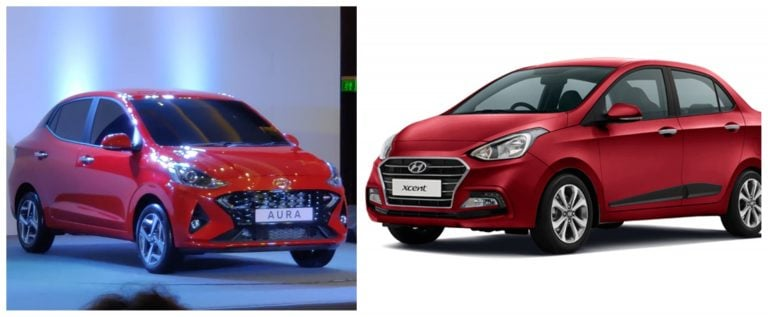Hyundai Aura Vs Hyundai Xcent – What's New?