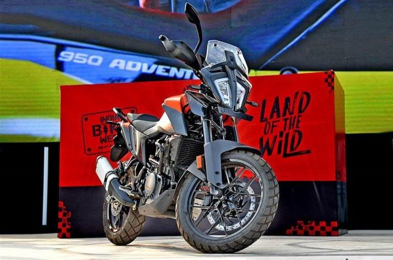 KTM Showcased the 390 Adventure at the India Bike Week!