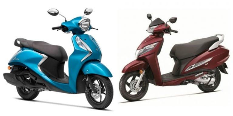 Yamaha Fascino 125 Vs Honda Activa 125 – Specifications Comparison