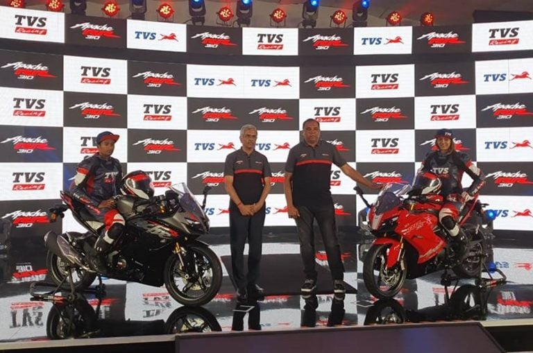 BS6 TVS Apache RR 310 Launched in India for a Price of Rs 2.4 Lakhs