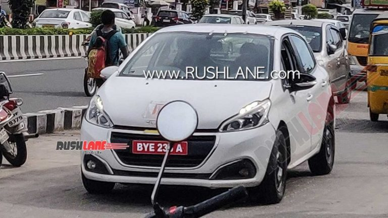 Citroen C21 Compact SUV Spied Testing in India with Peugeot 208 Bodyshell