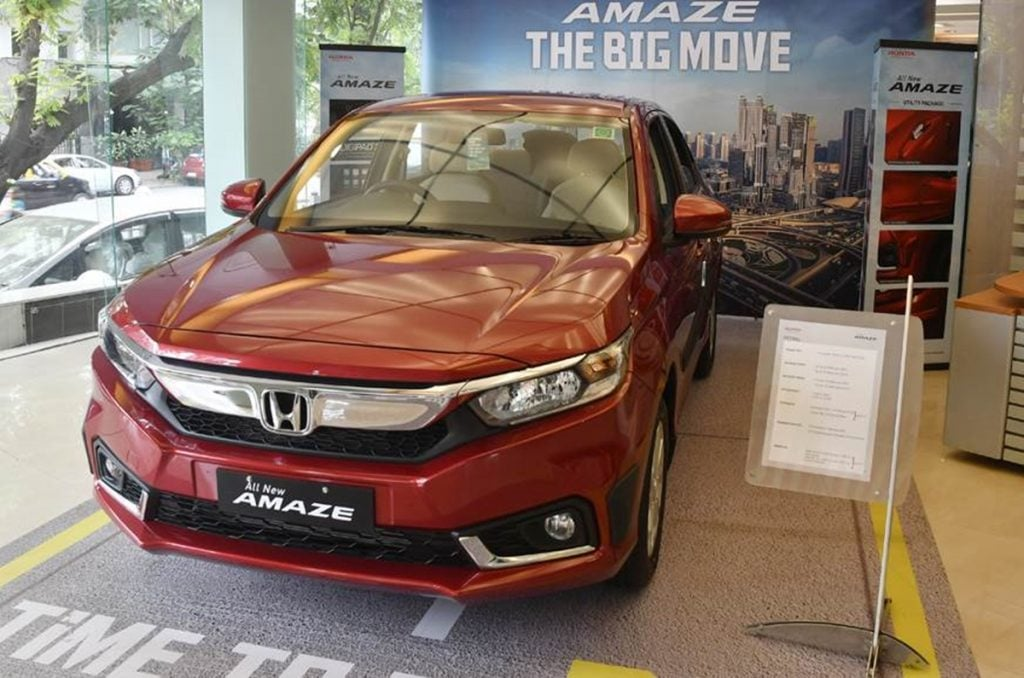 BS6 Honda Amaze launched; Price ranges from Rs 6.10-9.96 lakhs