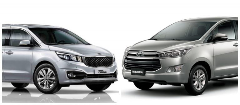 Kia Carnival Vs Toyota Innova Crysta – Dimensions And Engine Specifications