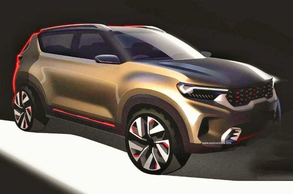 Kia QYI sub-compact SUV teased ahead of Auto Expo Debut