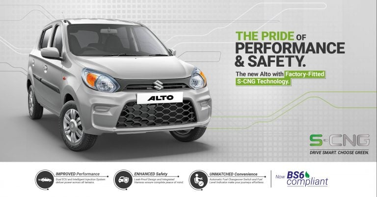 BS6 Maruti Alto CNG Launched; To Offer Mileage Of 31.6 Km/Kg