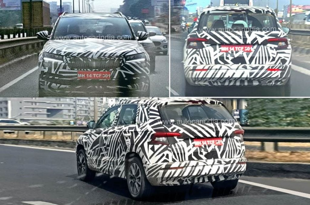 Skoda Karoq makes its spy shot debut in India
