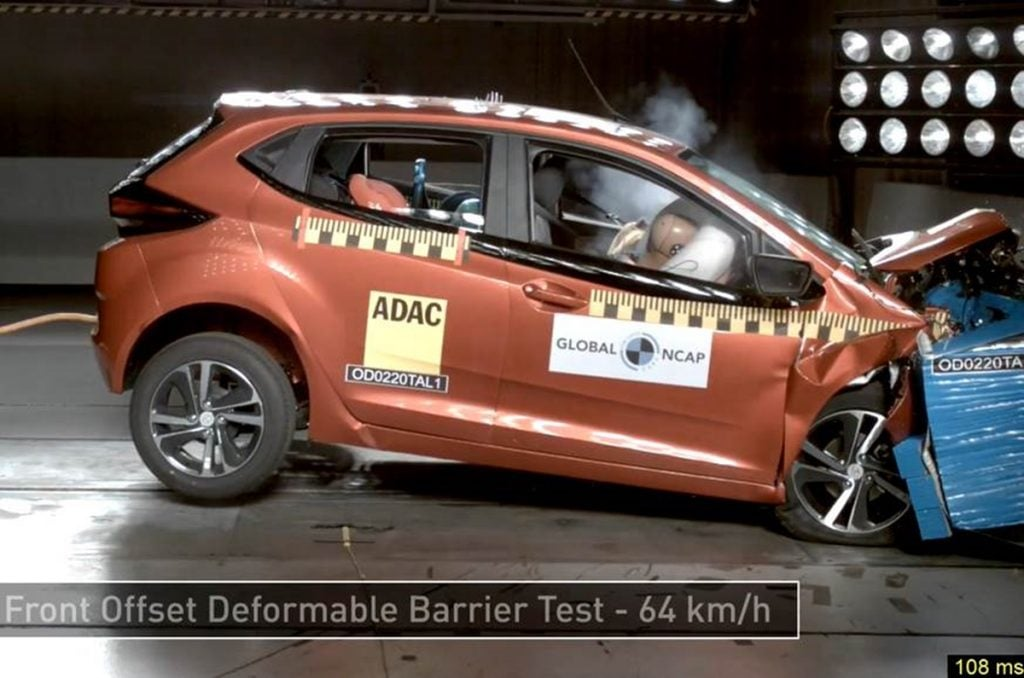 Tata Altroz scores a full five-star safety rating in Global NCAP crash test.