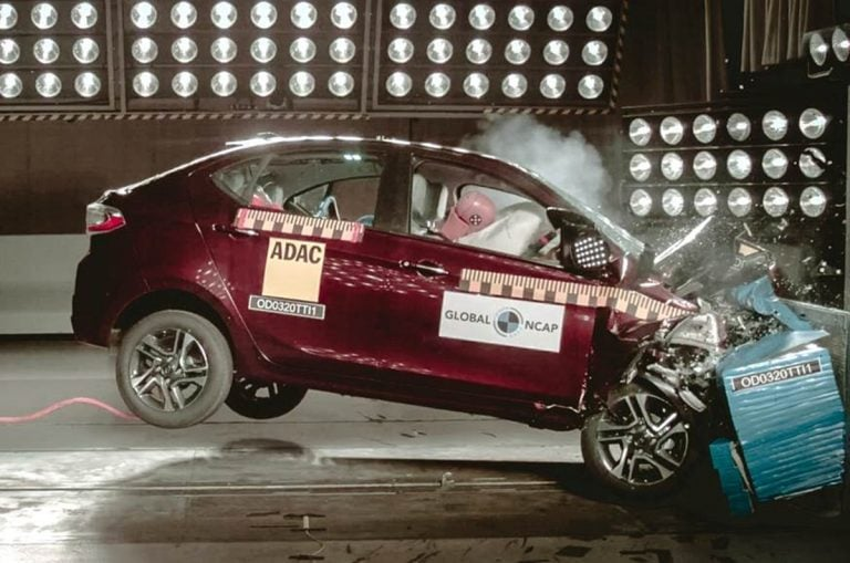 Tata Tiago and Tigor Facelifts score 4-star Safety Rating at Global NCAP