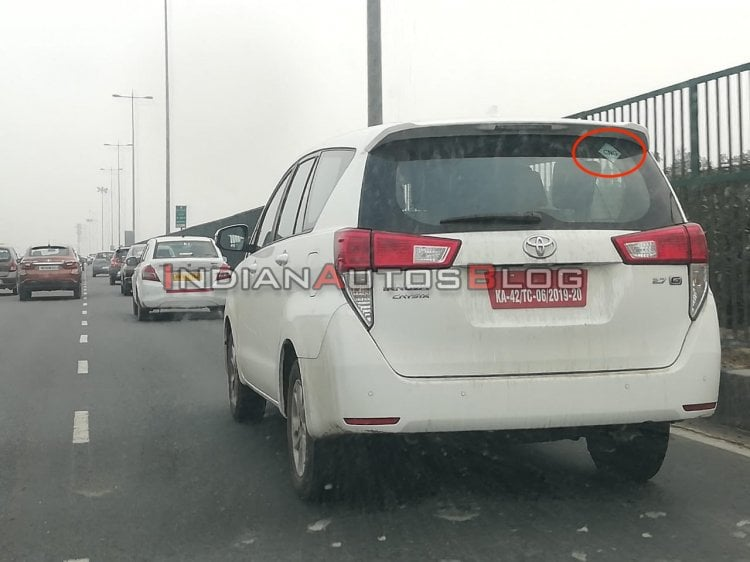 Toyota Innova Crysta CNG Launch Soon; Spied Testing