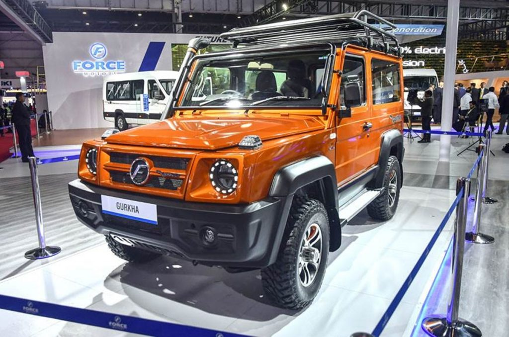 Force Motors unveiled the brand new 2020 Gurkha at the Auto Expo