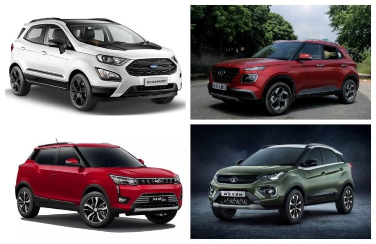 BS6 Maruti Vitara Brezza Petrol Vs Hyundai Venue Vs Mahindra XUV300 Vs Tata Nexon Vs Ford EcoSport – Price Check