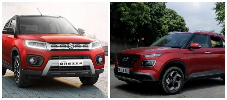 BS6 Maruti Vitara Brezza Petrol Vs Hyundai Venue – Price / Mileage / Features And Engine Details