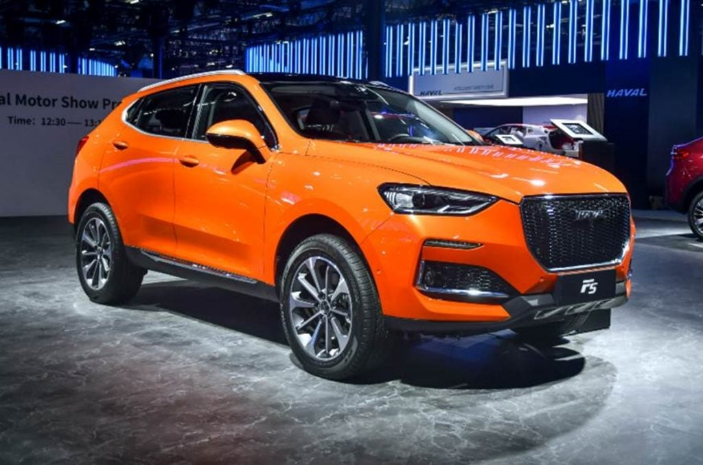 GWM also displayed the F5 mid-size SUV at the 2020 Auto Expo