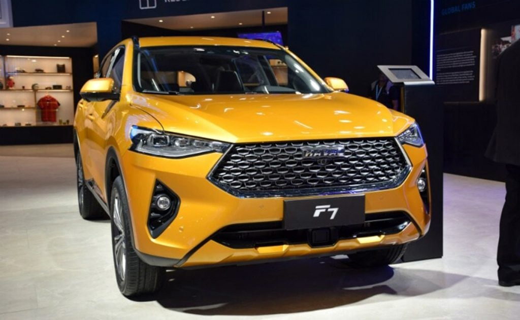 GMW displays the Haval F7 at the 2020 Auto Expo