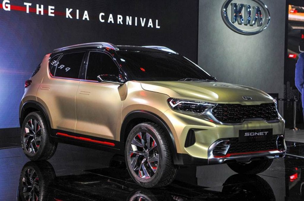 The Kia Sonet previews the sub-compact SUV that's coming from Kia at the 2020 Auto Expo